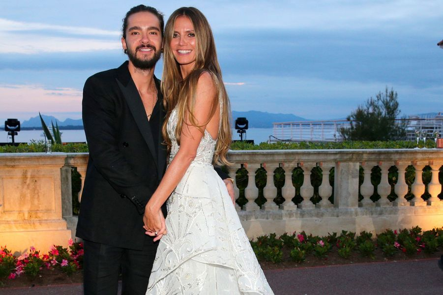 Heidi Klum et Tom Kaulitz au gala de l'amfAR le 17 mai 2018
