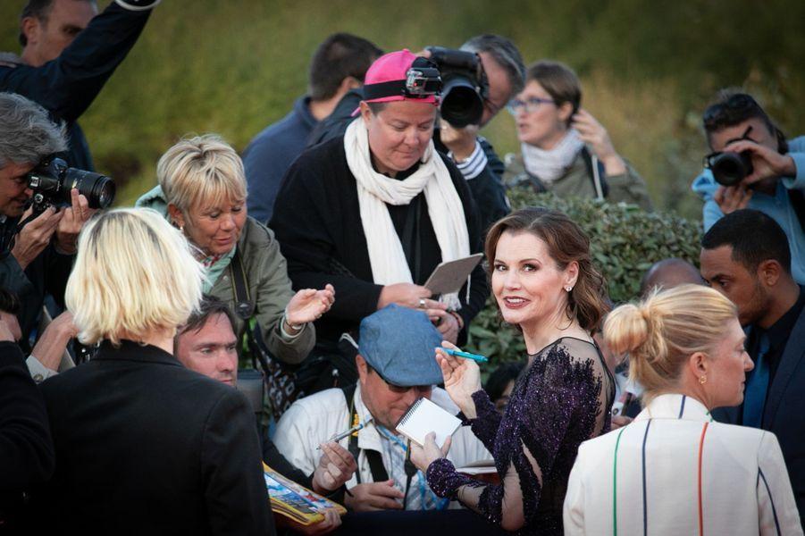 L'actrice américaine Geena Davis lors du 45e Festival de Deauville