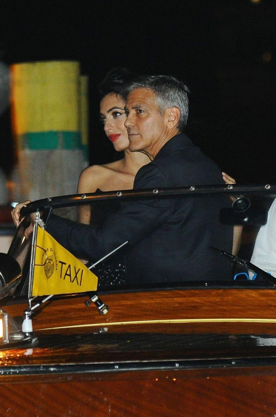 George Clooney et sa femme Amal, le 31 août 2017.