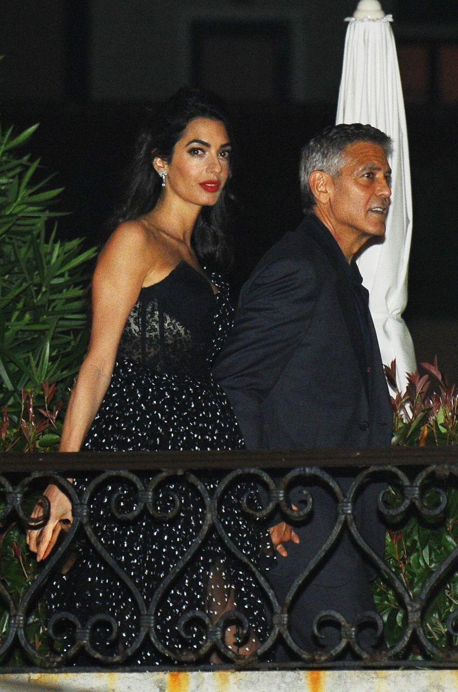 George et Amal Clooney à Venise le 31 août 2017.
