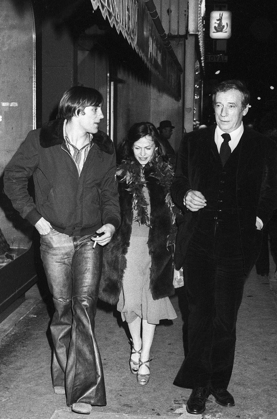Gérard Depardieu, sa femme Elisabeth Guignot, en 1973