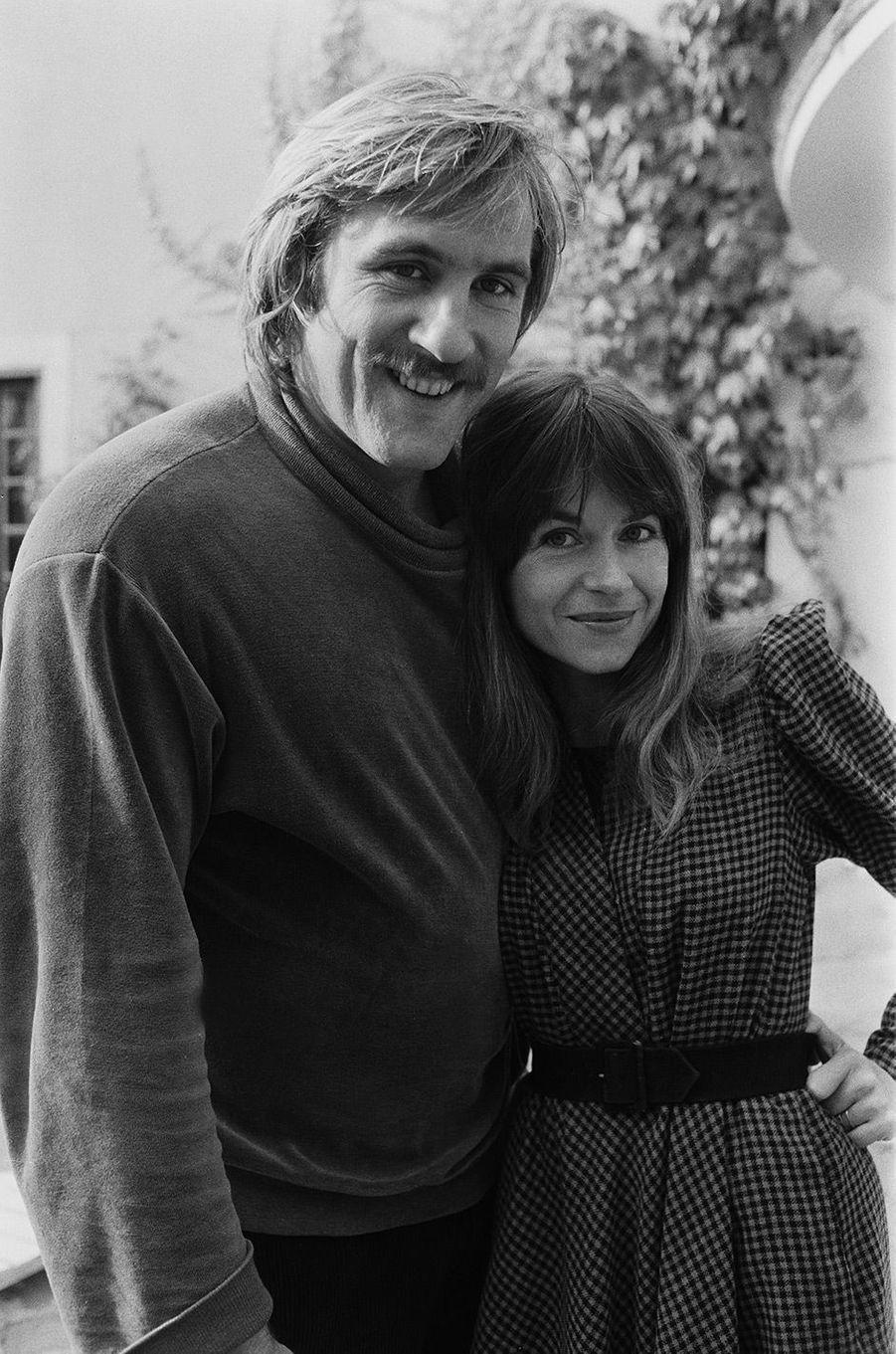 Gérard Depardieu avec sa femme Elisabeth Guignot en 1978