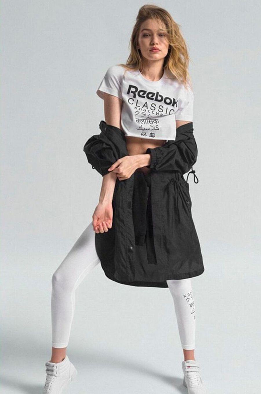 Gigi Hadid pour Reebok