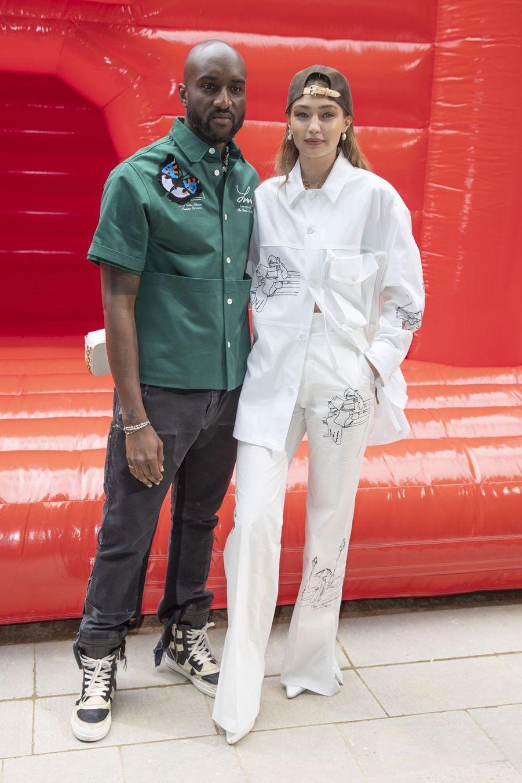 Virgil Abloh et Gigi Hadidà Paris, le 20 juin 2019