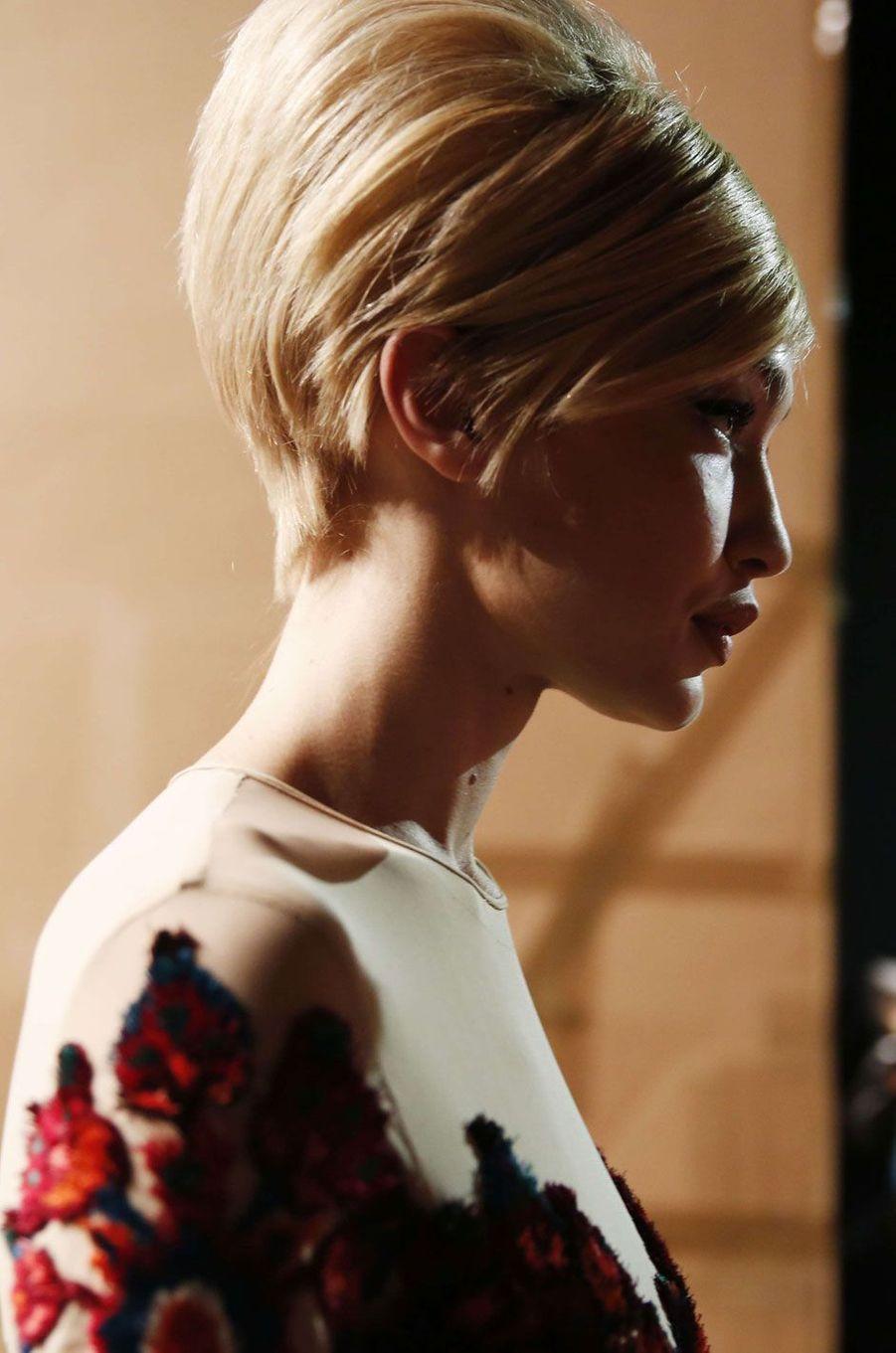 La coiffure de Gigi Hadid.