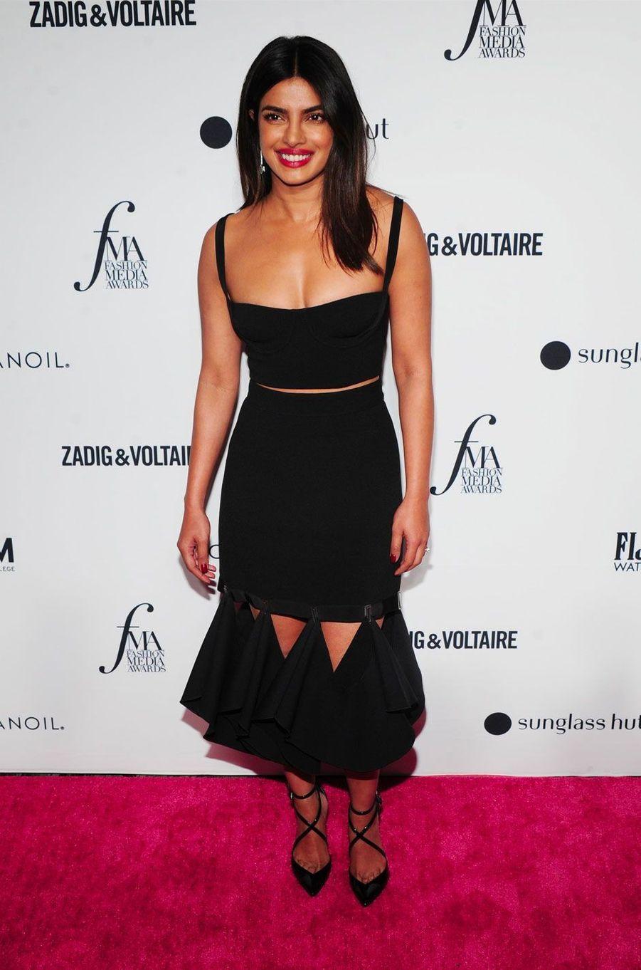 Priyanka Chopra à la soirée des Daily Front Row's Fashion Media Awards à New York, le 6 septembre 2018