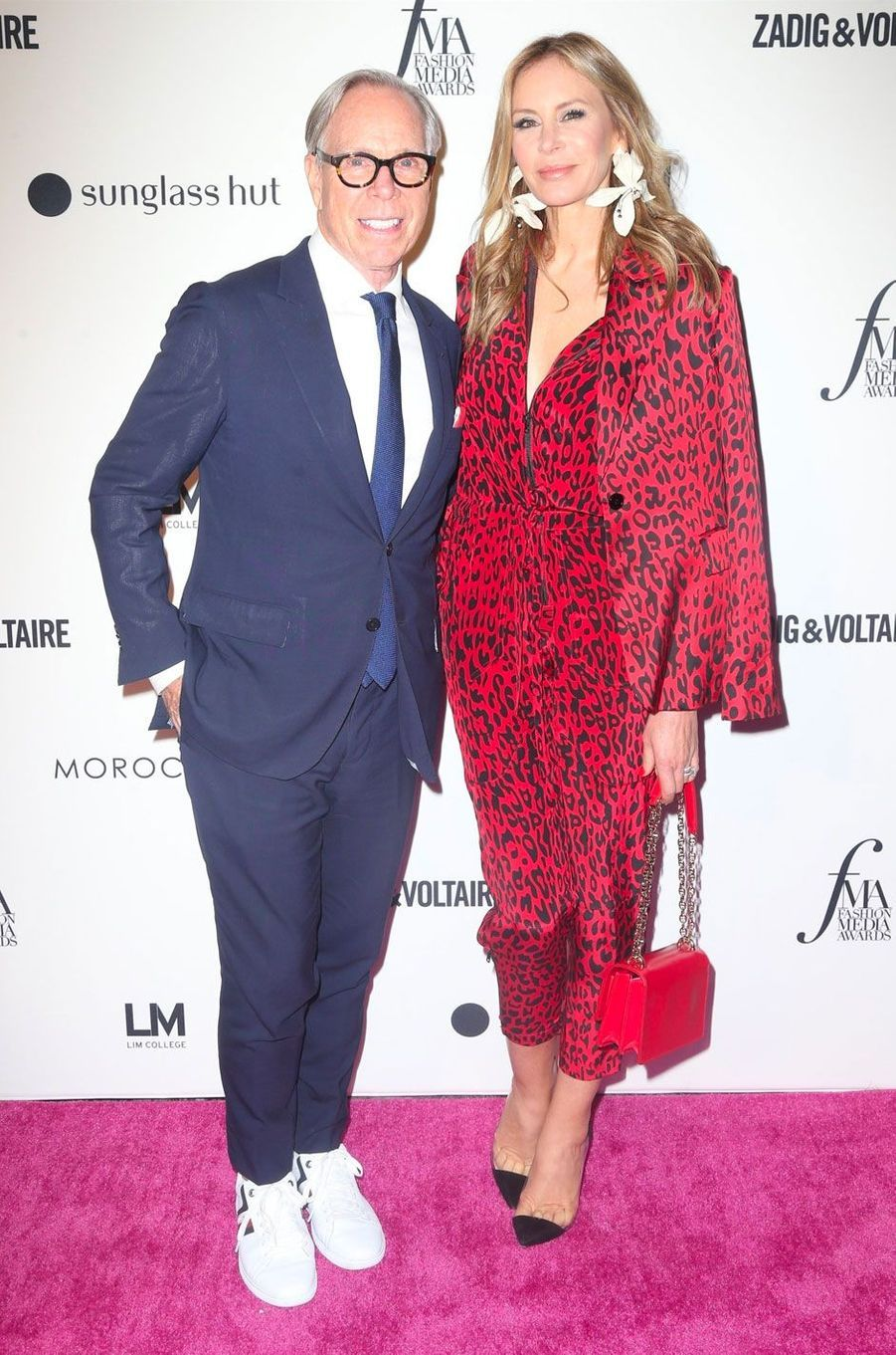 Tommy Hilfiger et sa femme à la soirée des Daily Front Row's Fashion Media Awards à New York, le 6 septembre 2018