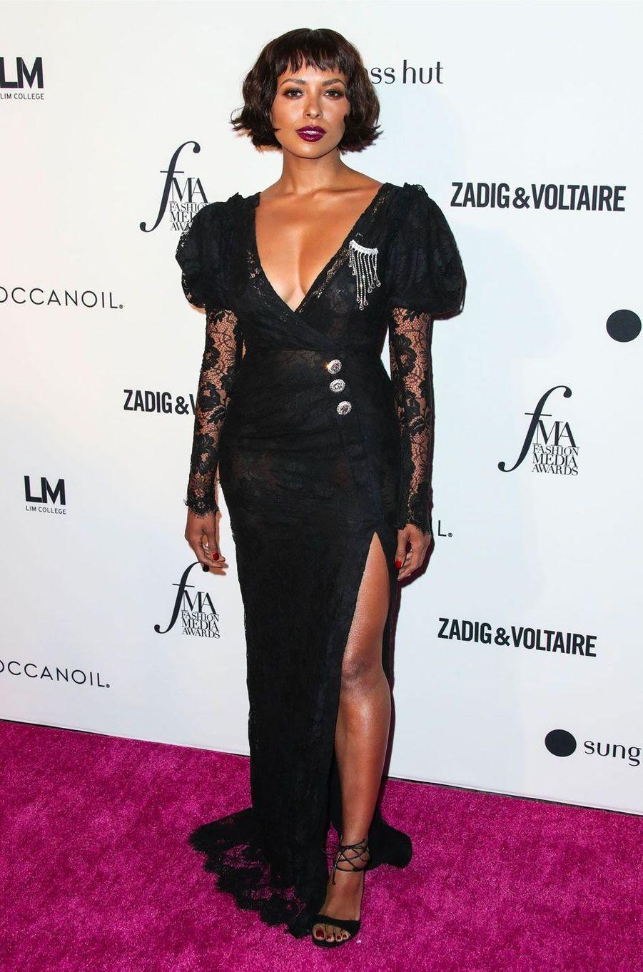 Kat Graham à la soirée des Daily Front Row's Fashion Media Awards à New York, le 6 septembre 2018