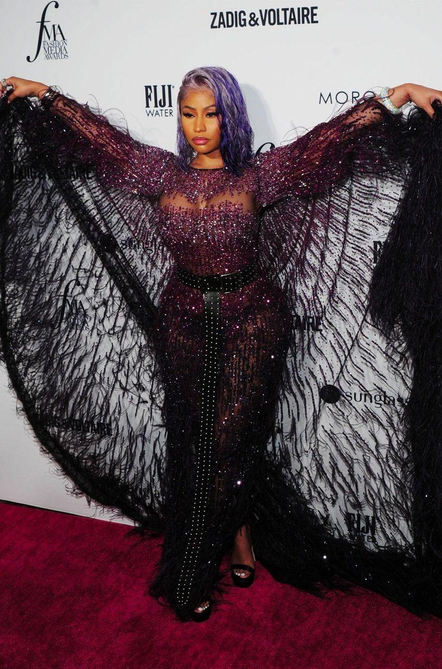 Nicki Minaj à la soirée des Daily Front Row's Fashion Media Awards à New York, le 6 septembre 2018