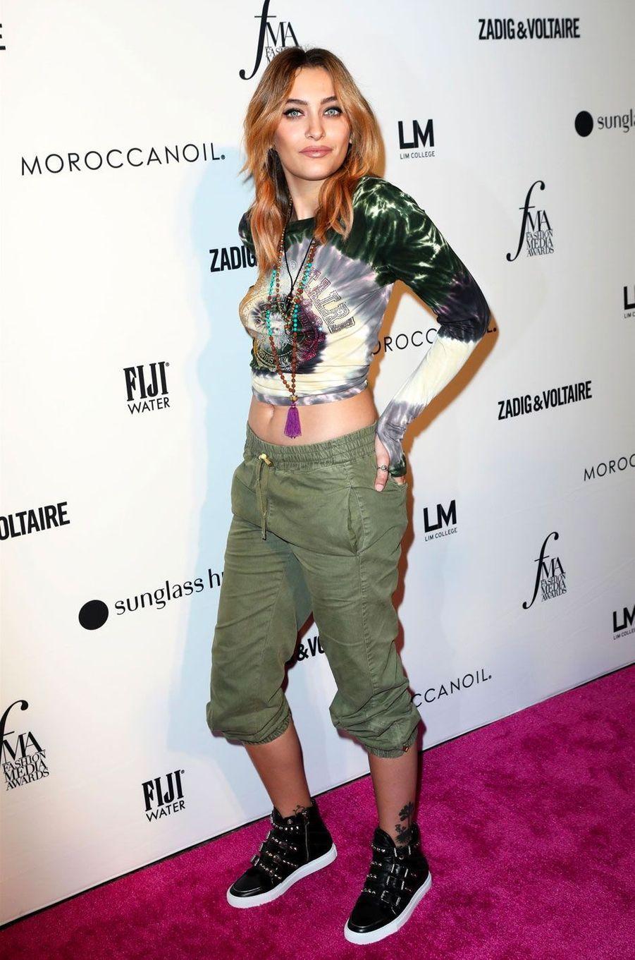 Paris Jackson à la soirée des Daily Front Row's Fashion Media Awards à New York, le 6 septembre 2018