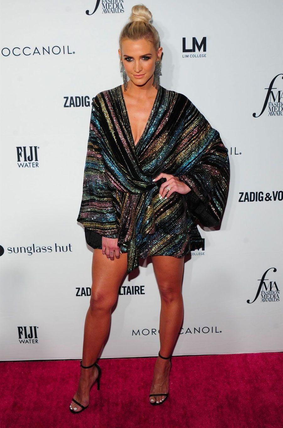 Ashlee Simpson à la soirée des Daily Front Row's Fashion Media Awards à New York, le 6 septembre 2018