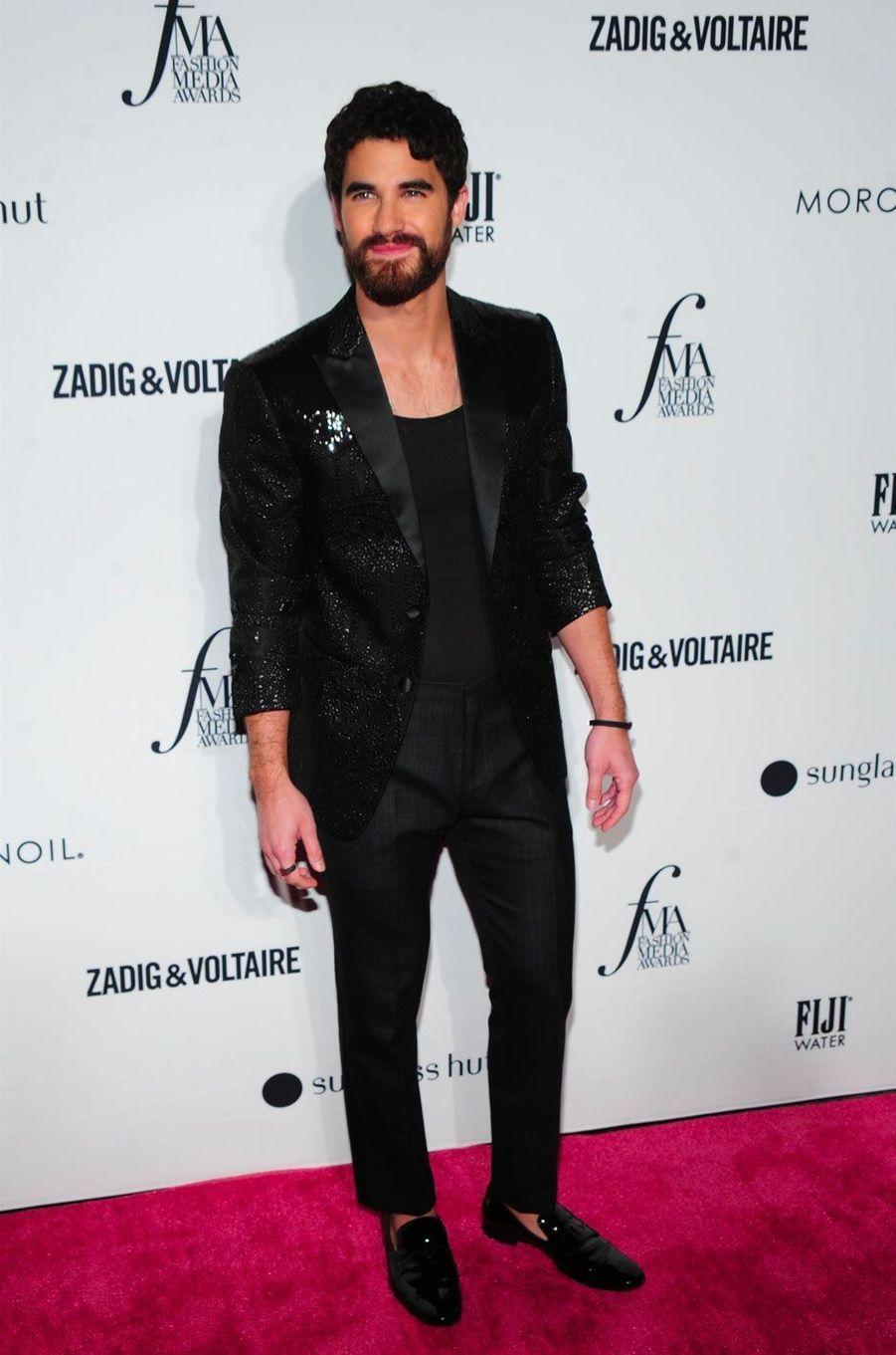 Darren Criss à la soirée des Daily Front Row's Fashion Media Awards à New York, le 6 septembre 2018
