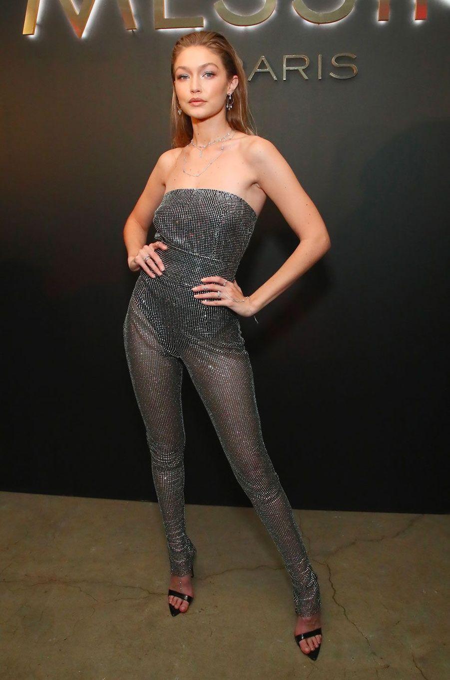 Gigi Hadid à la soirée Messika, le 12 septembre à New York