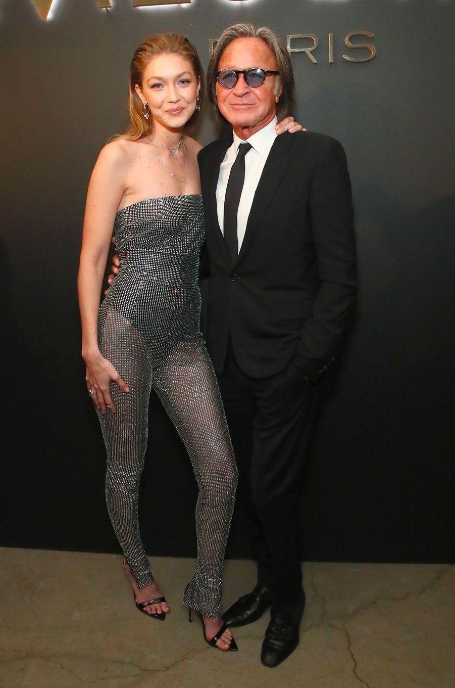 Gigi et Mohamed Hadid à la soirée Messika, le 12 septembre à New York