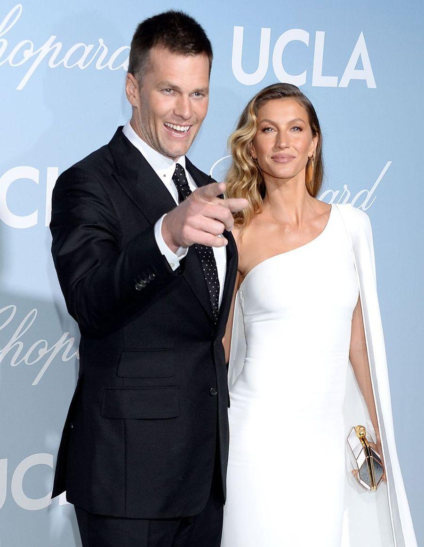 Gisele Bündchen et son mari Tom Brady à la soirée UCLA à Los Angeles, le 21 février 2019