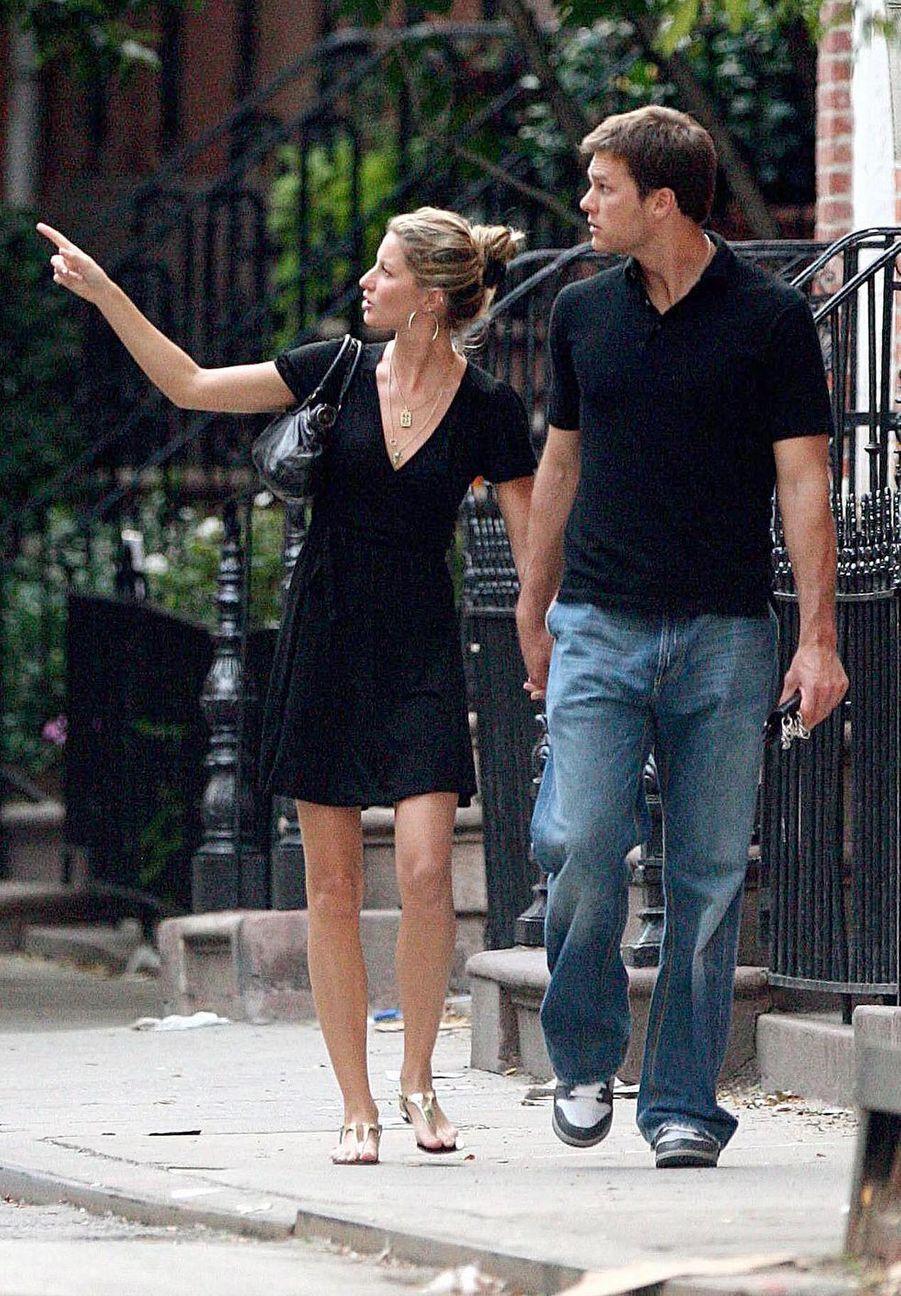 Tom Brady et Gisele Bündchen se baladant dans les rues de New York, le 21 juillet 2007