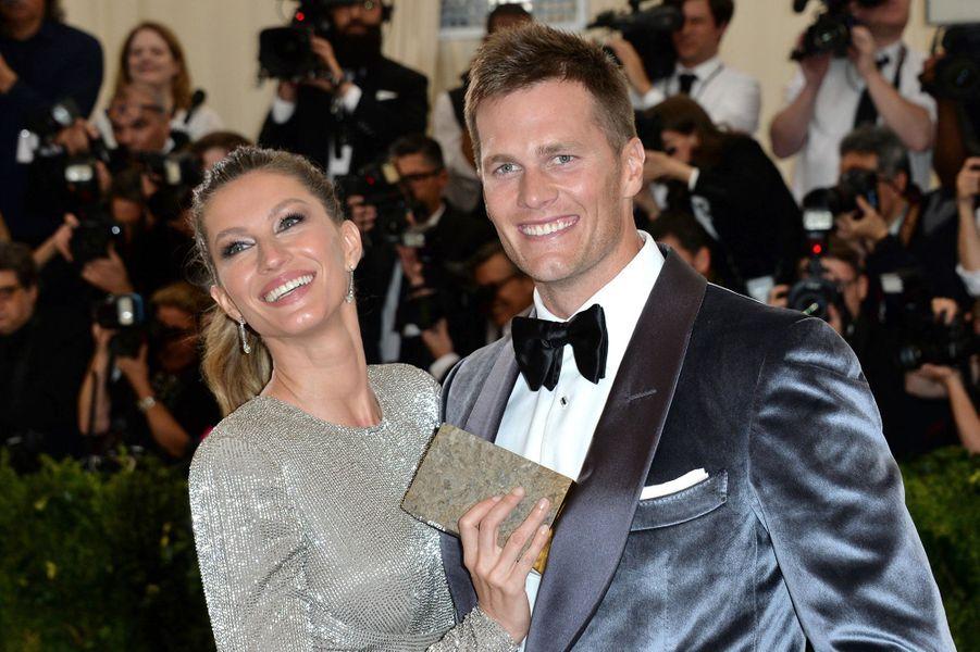 Tom Brady et Gisele Bündchen auMetropolitan Museum de New York, le 1er mai 2017