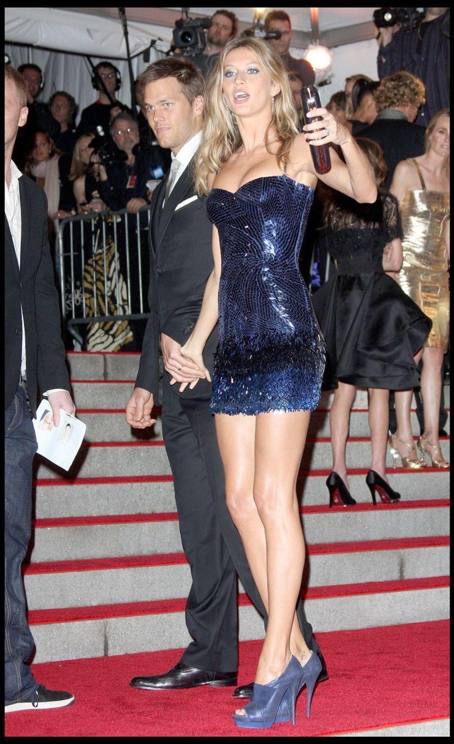 Tom Brady et Gisele Bündchen lors de la soirée au Metropolitan Museum de New York, le 4 mai 2009