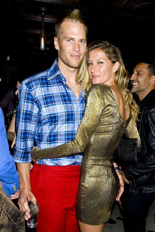 Tom Brady et Gisele Bündchenlors d'une soirée au Jane Hotel à New York, le 3 mai 2014