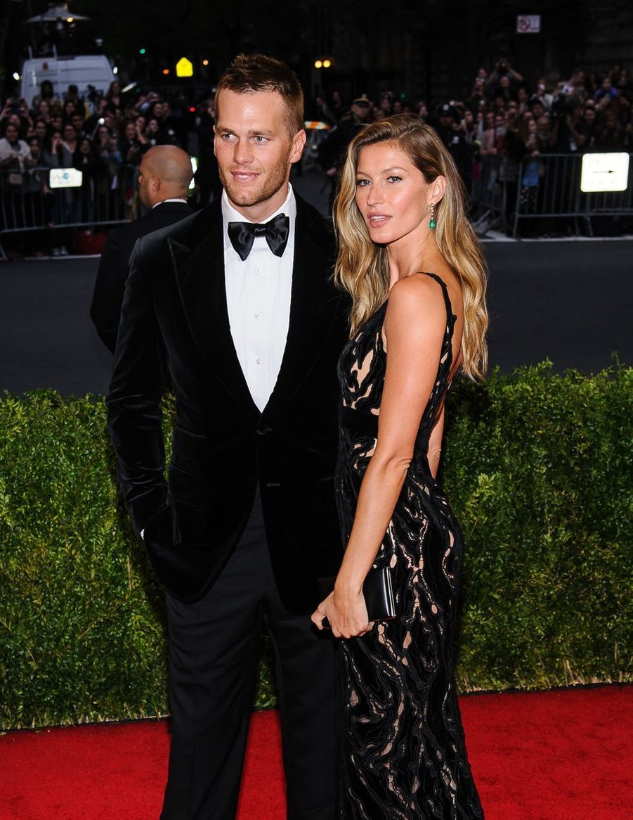 "Tom Brady et Gisele Bündchen lors du Gala de Mode ""Charles James"" à New York, le 5 mai 2014"