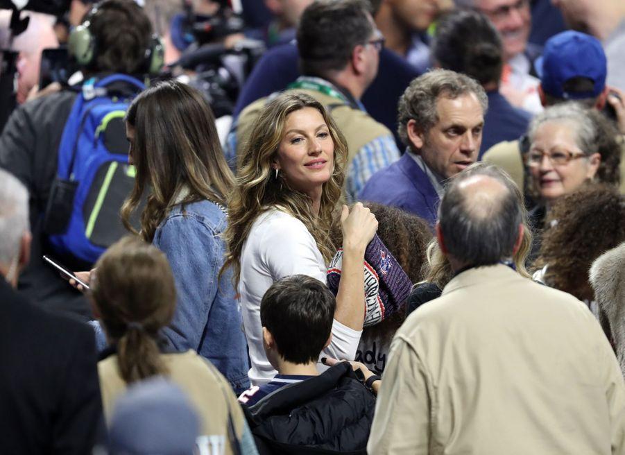 Gisele Bündchen après la victoire de son mari Tom Brady lors du Super Bowl le 3 février 2019 à Atlanta (Géorgie).