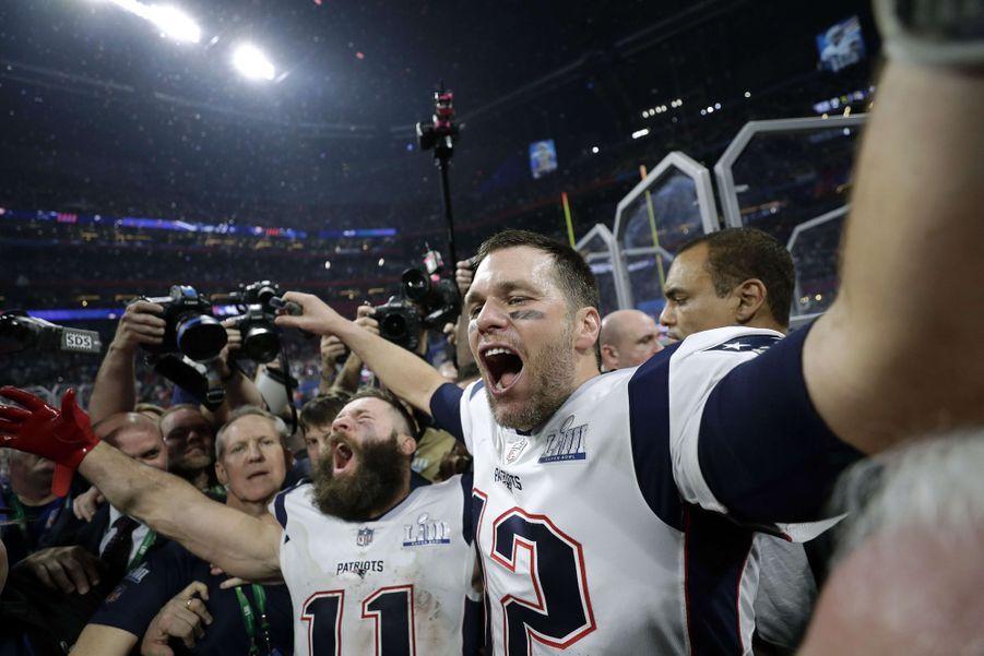 Tom Brady fête sa victoire au Super Bowl le 3 février 2019 à Atlanta (Géorgie).