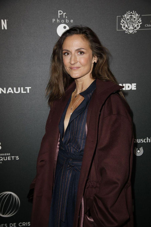 Camille Chamouxsur le tapis rouge de la 14e édition des Globes de Cristal à Paris le 4 février 2019