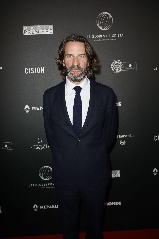 Frédéric Beigbedersur le tapis rouge de la 14e édition des Globes de Cristal à Paris le 4 février 2019
