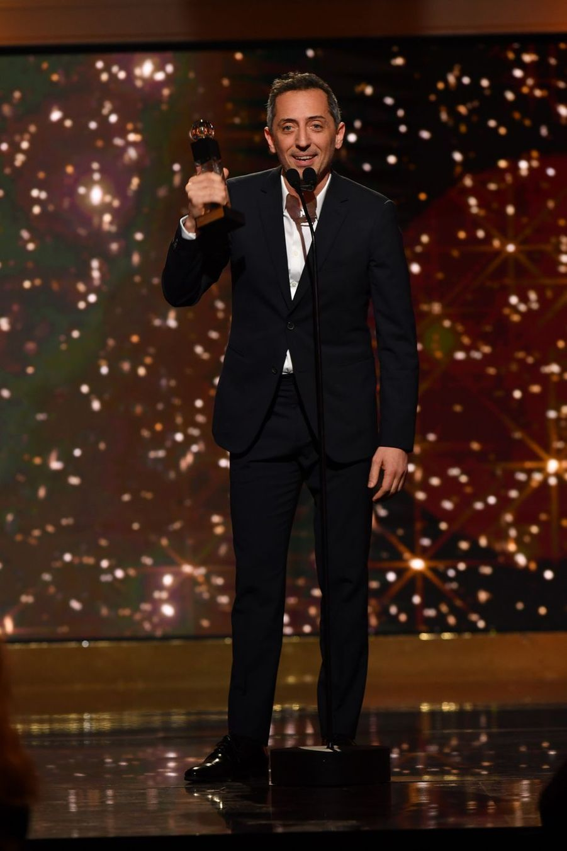 Gad Elmaleh (Globe de Cristal d'Honneur)à la 14ème cérémonie des Globes de Cristal, à la salle Wagram à Paris, le 4 février 2019