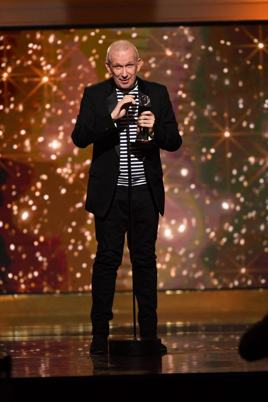 """Jean Paul Gaultier (meilleur spectacle de divertissement pour """"Fashion Freak Show"""")à la 14ème cérémonie des Globes de Cristal, à la salle Wagram à Paris, le 4 février 2019"""