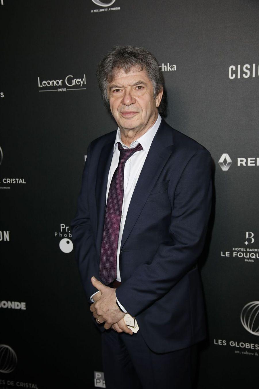 Lionnel Astiersur le tapis rouge de la 14e édition des Globes de Cristal à Paris le 4 février 2019