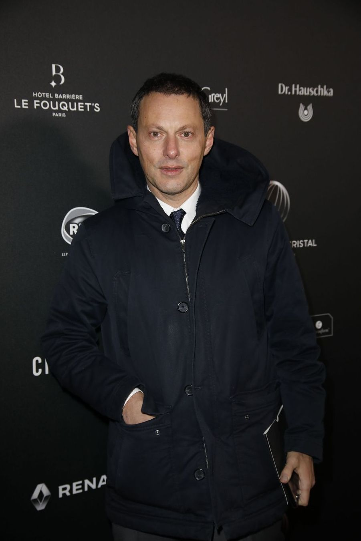 Marc-Olivier Fogielsur le tapis rouge de la 14e édition des Globes de Cristal à Paris le 4 février 2019