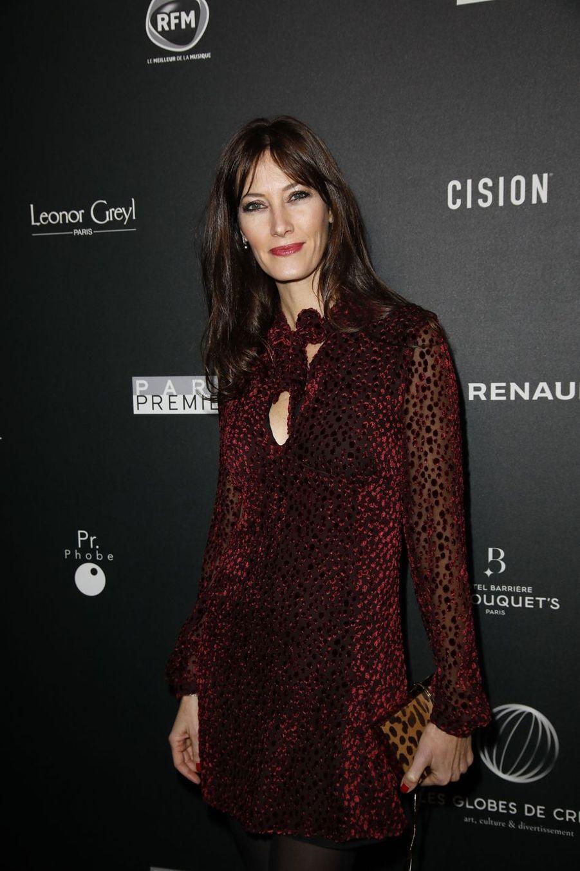 Mareva Galanter sur le tapis rouge de la 14e édition des Globes de Cristal à Paris le 4 février 2019