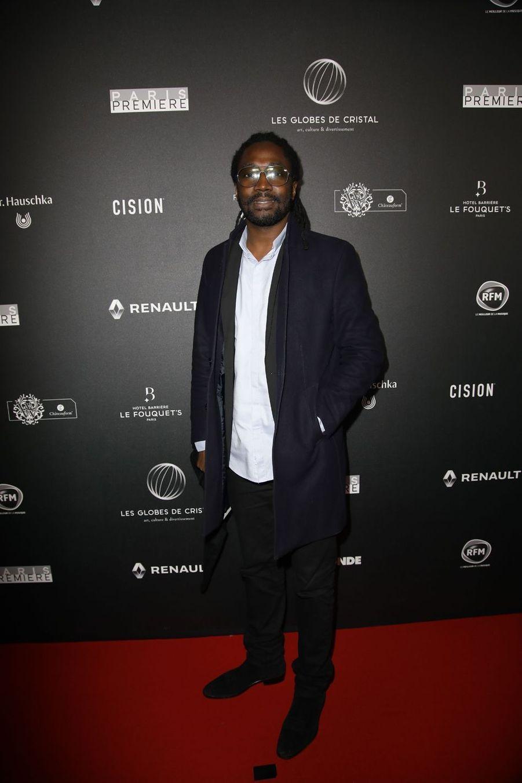 Noom Diawarasur le tapis rouge de la 14e édition des Globes de Cristal à Paris le 4 février 2019
