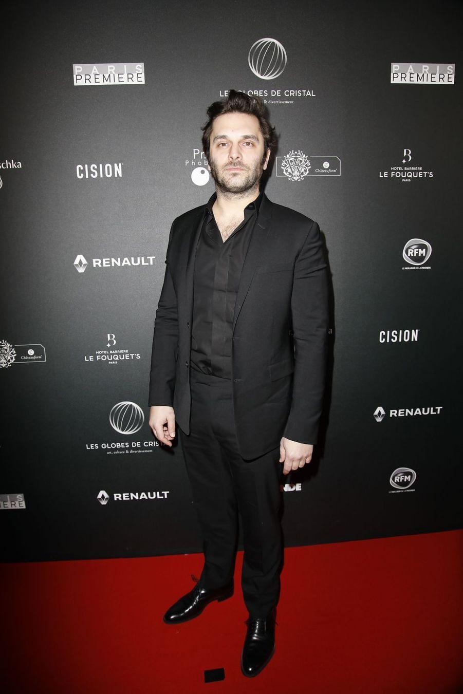 Pio Marmaïsur le tapis rouge de la 14e édition des Globes de Cristal à Paris le 4 février 2019