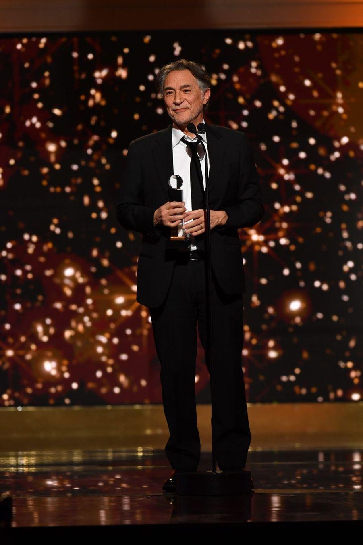 """Richard Berry (meilleure pièce de théâtre pour """"Plaidoiries"""")à la 14ème cérémonie des Globes de Cristal, à la salle Wagram à Paris, le 4 février 2019"""