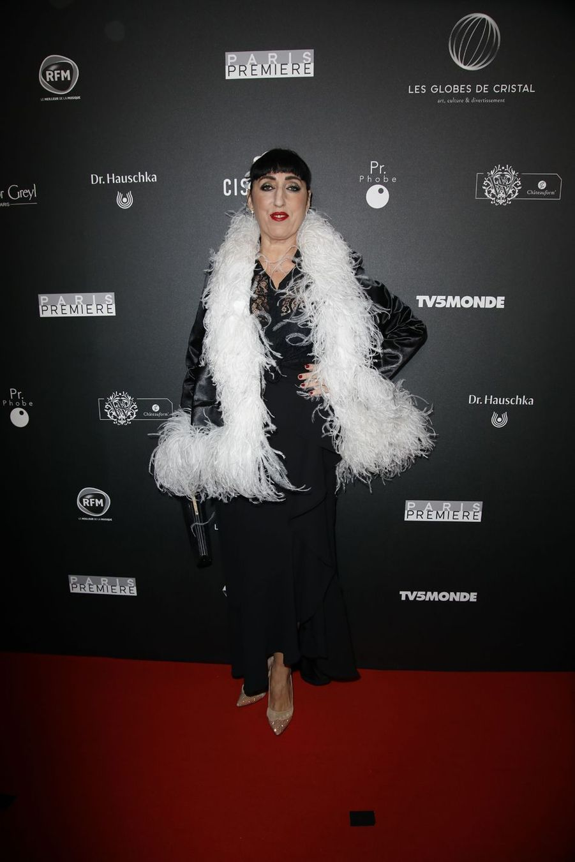 Rossy de Palmasur le tapis rouge de la 14e édition des Globes de Cristal à Paris le 4 février 2019