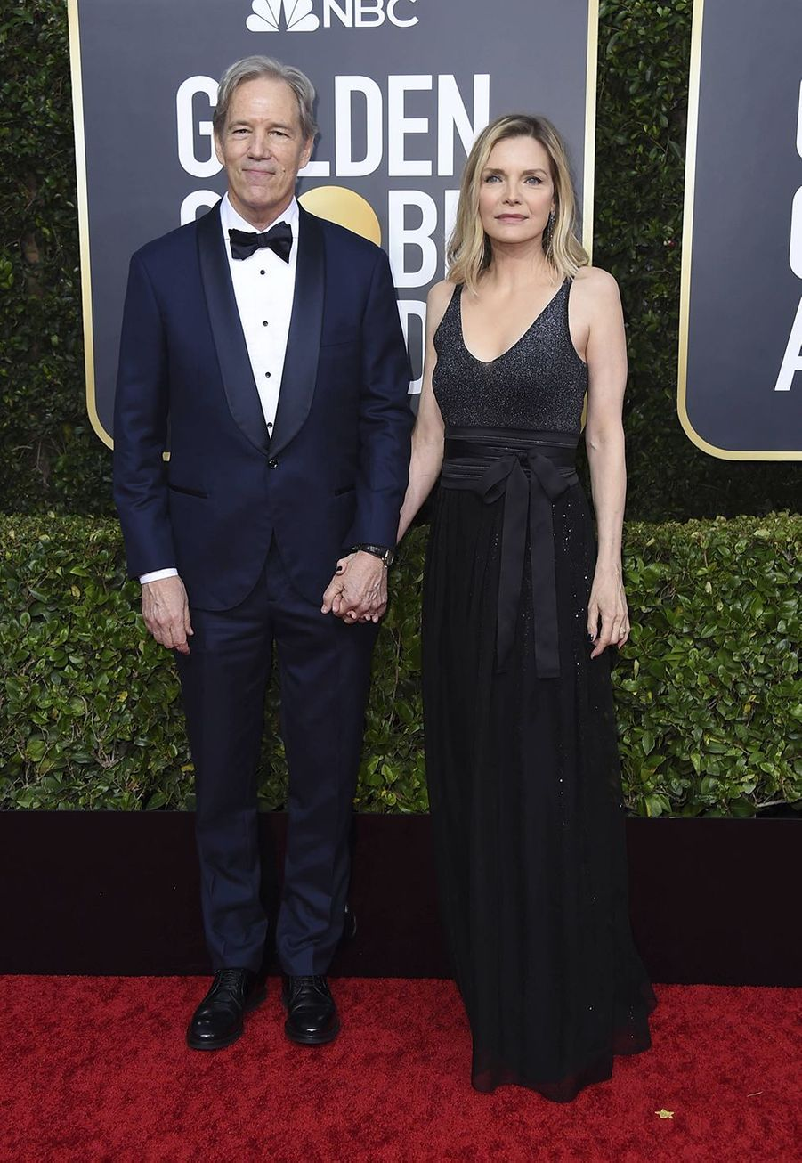 David Edward Kelley et Michelle Pfeiffer à la 77e édition des Golden Globes à Los Angeles le 5 janvier 2020