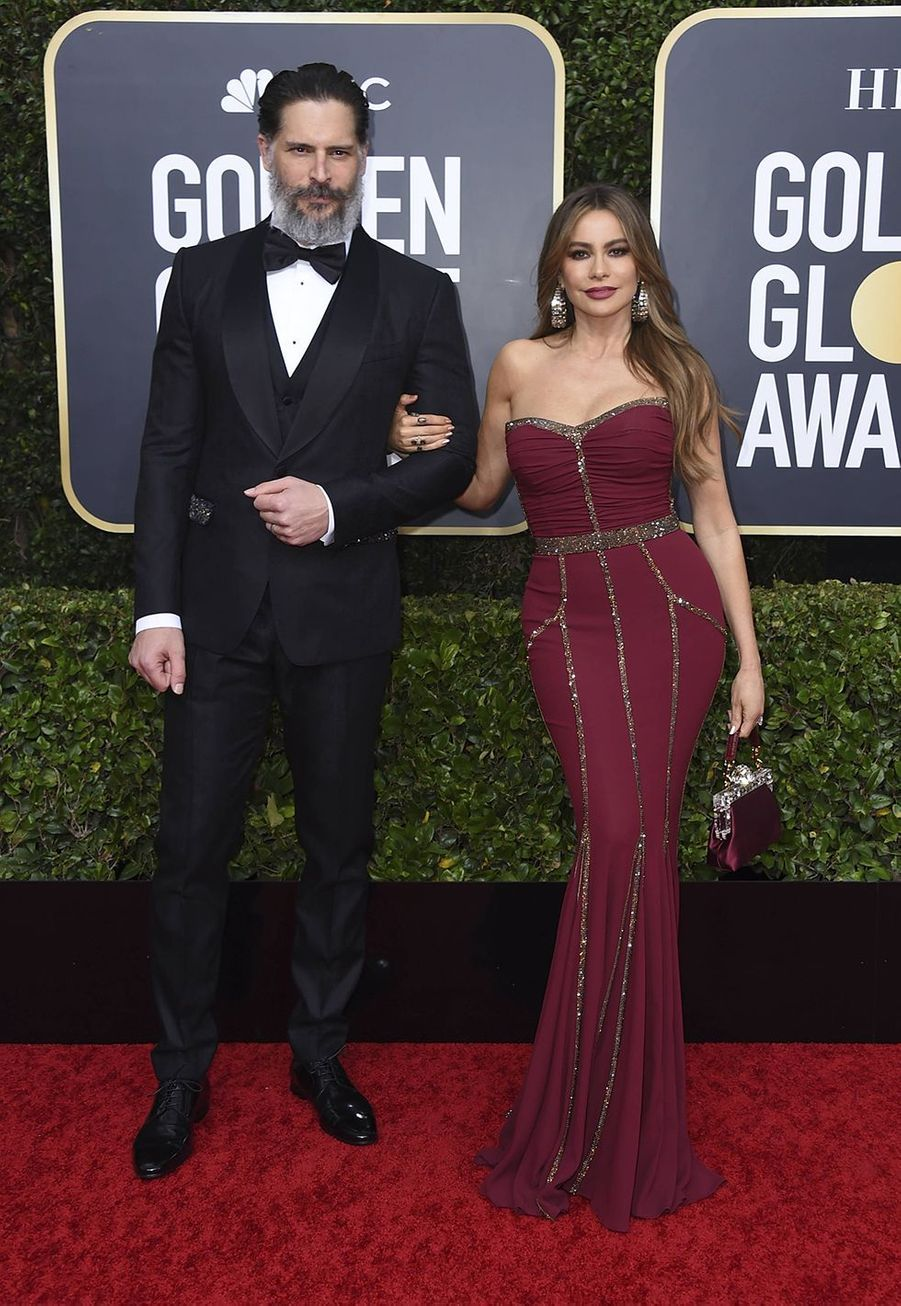 Joe Manganiello et Sofia Vergara à la 77e édition des Golden Globes à Los Angeles le 5 janvier 2020
