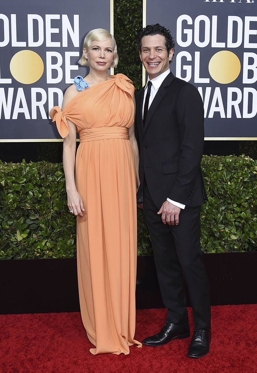 Michelle Williams et Thomas Kail à la 77e édition des Golden Globes à Los Angeles le 5 janvier 2020