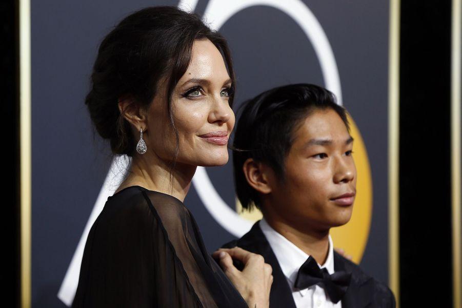 Angelina Jolie et son fils Pax