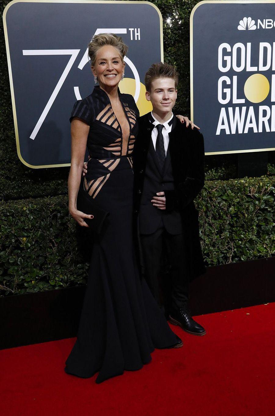 Sharon Stone et son fils Roan Bronstein