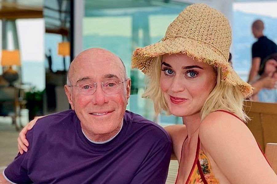 Katy Perry avec le producteur David Geffen.