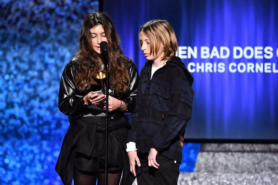 Toni et Christopher Cornell lors de la 61èmecérémonie des Grammy Awards à Los Angeles, le dimanche 10 février 2019