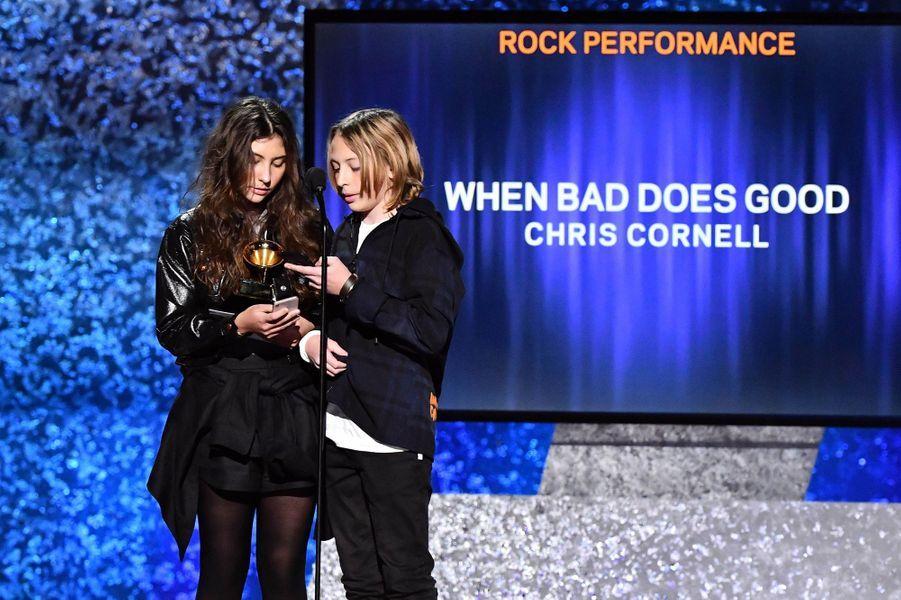 Toni et Christopher Cornell lors de la 61ème cérémonie des Grammy Awards à Los Angeles, le dimanche 10 février 2019