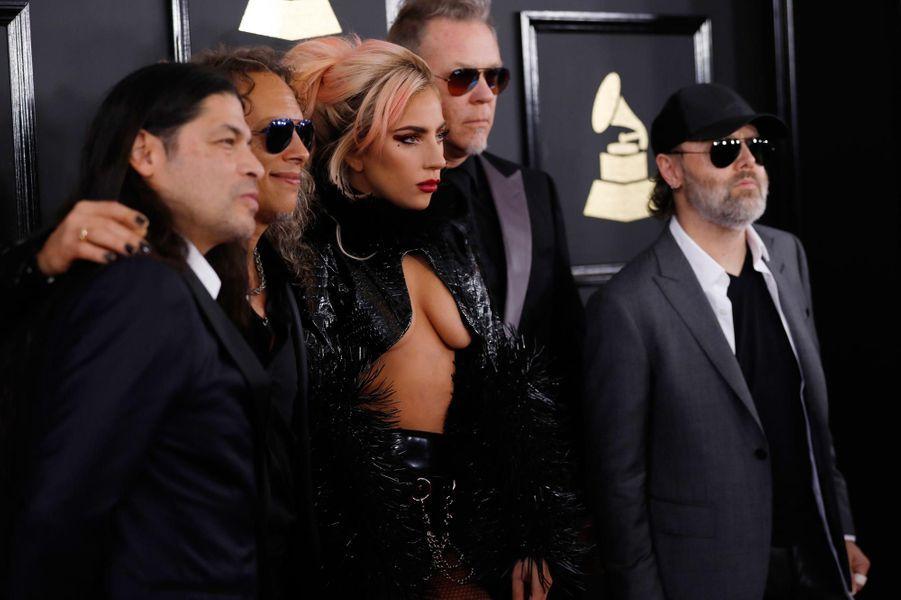 Lady Gaga et le groupe Metallica