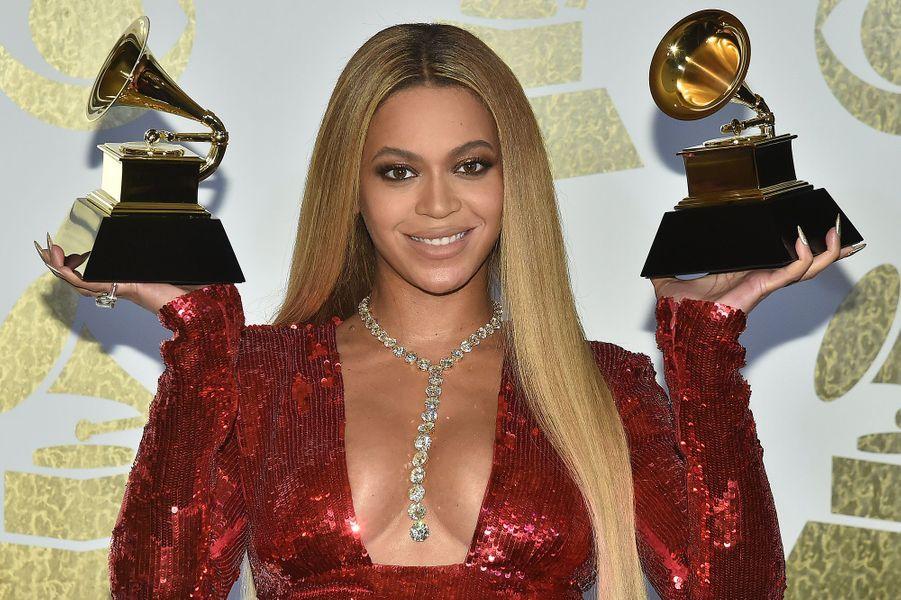 """Egalement en 2017, Beyoncé avait aussi remporté deux Grammy Awards dont celui du meilleur album R&B contemporain pour """"Lemonade""""."""