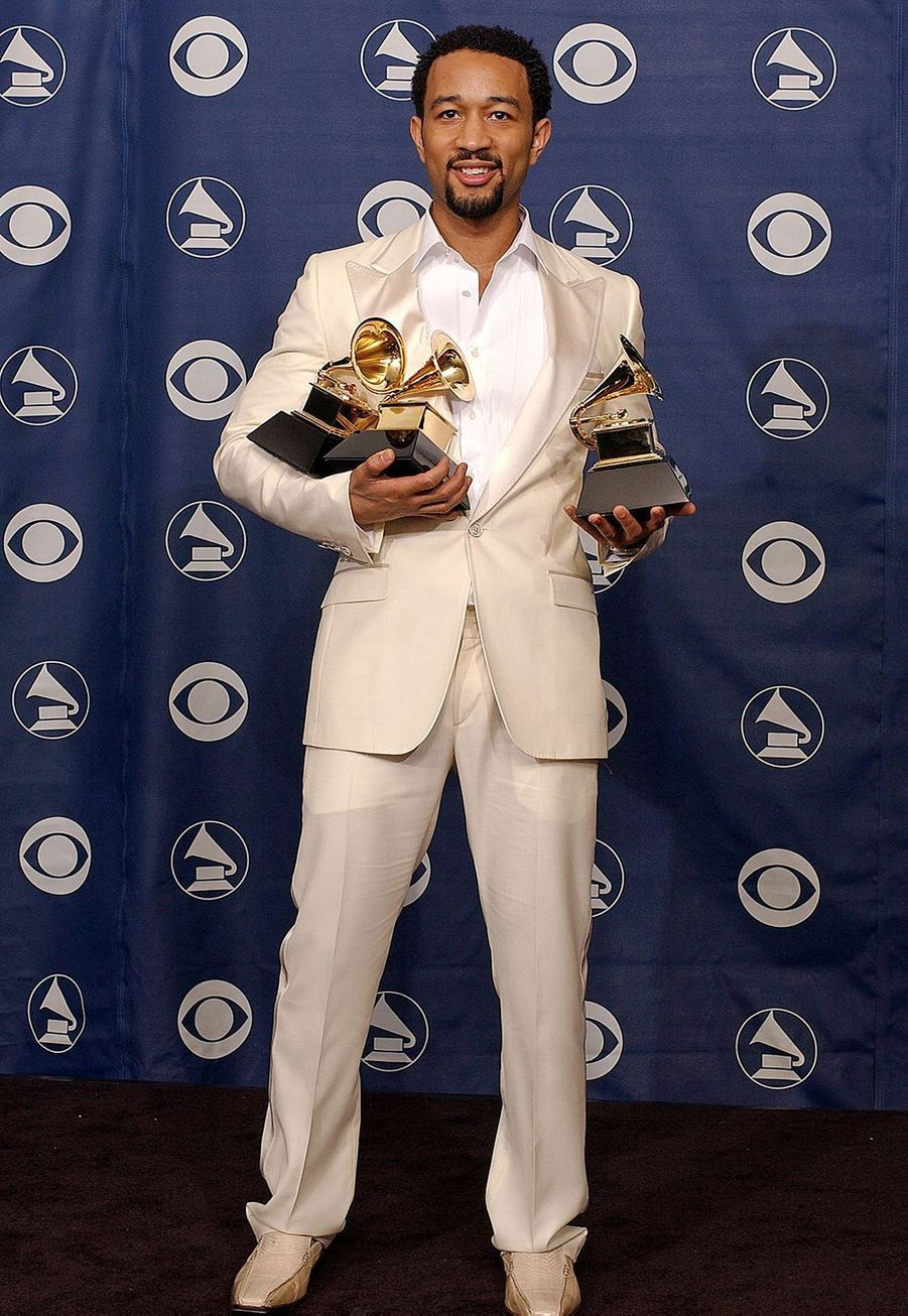 John Legend aux Grammy Awards le 8 février 2006. Le chanteur avait remporté trois prix dont celui du meilleur nouvel artiste.