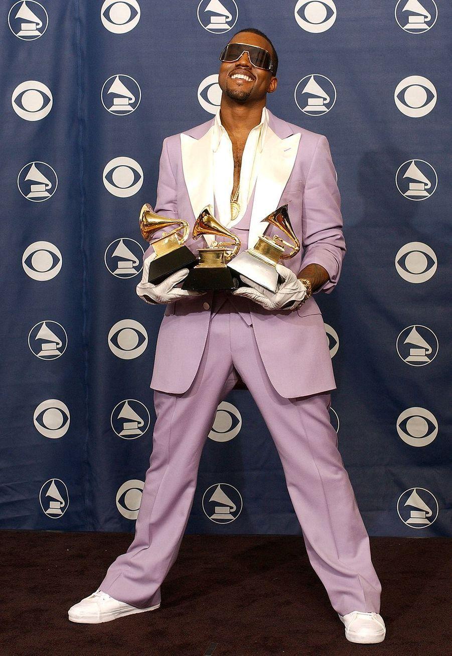 """Kanye West faisait aussi de nouveau partie des lauréats en 2006. Il avait remporté trois prix dont celui du meilleur album de rap pour """"Late Registration""""."""