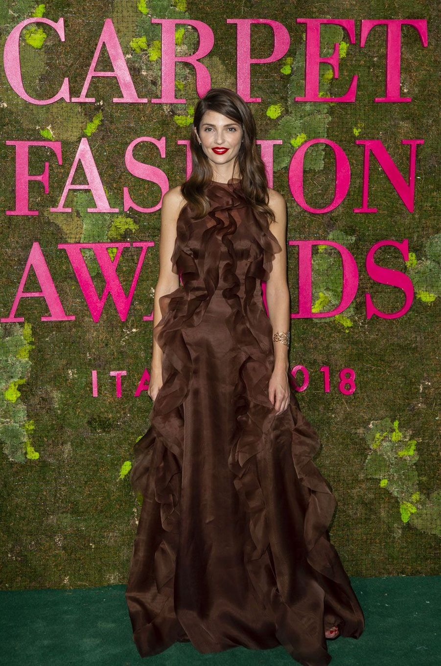 Annabelle Belmondo aux Green Fashion Awards à Milan, le 23 septembre 2018